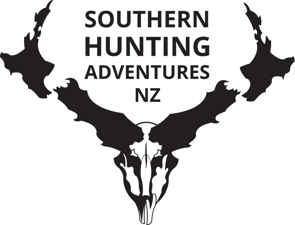 new zealand red stag and tahr hunting logo