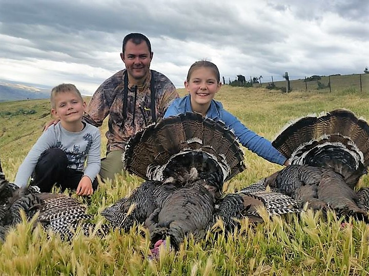 NZ merriam turkey guided hunts Queenstown hunting guides