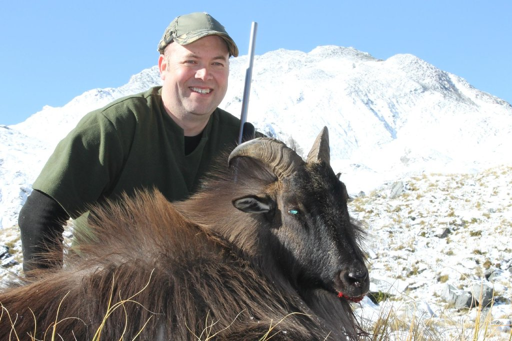 South Island New Zealand guided tahr hunt
