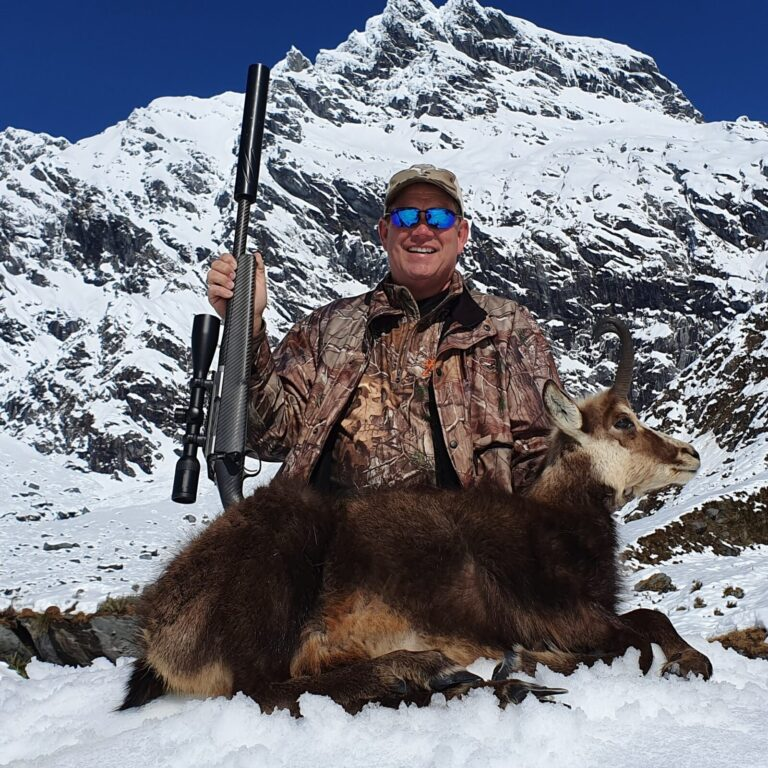 Queenstown New Zealand hunting chamois guided