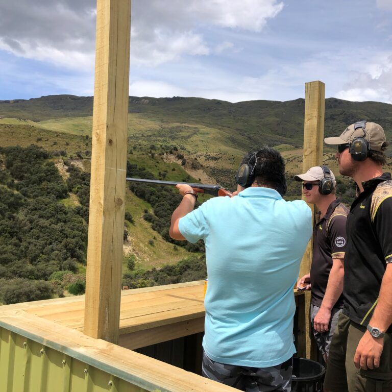 Shotgun range Clay Pigeons Skeet Gun Range Queenstown nz